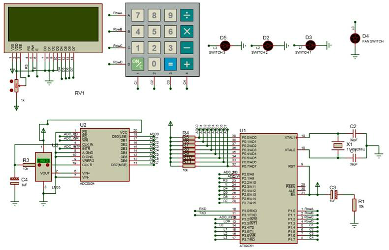 Interfacing Adc To 8051 Electronic Circuits And Diagram
